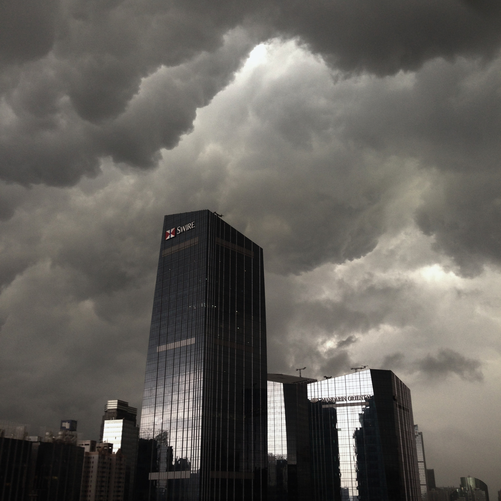Gathering storm over Tianhe Guangzhou, July 2014