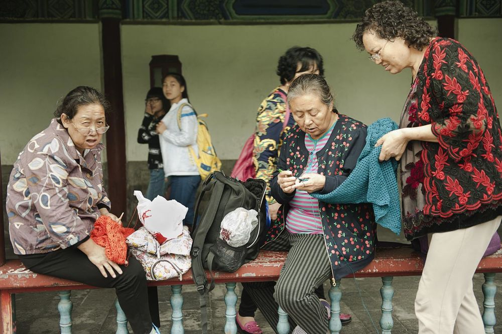 Jamie Lowe Photography Park Life Beijing Knitting Circle