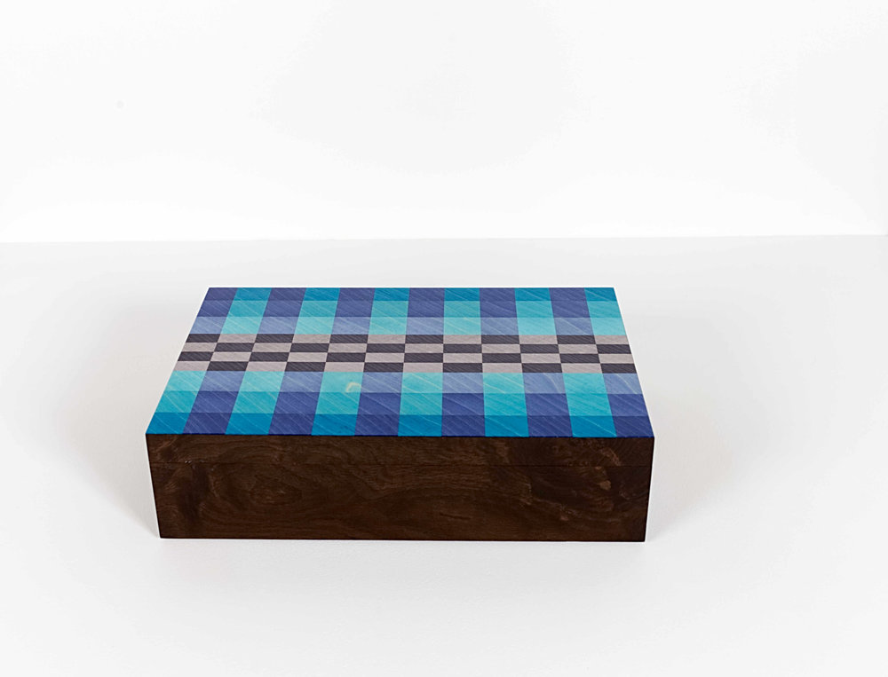Blue Checker Watch Box