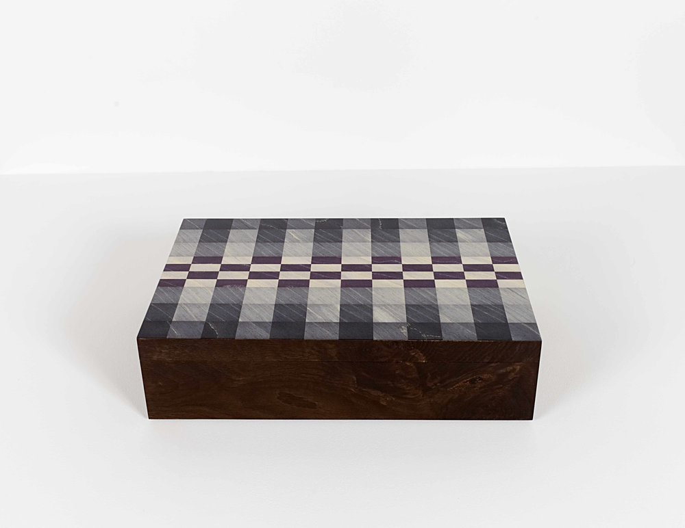 Grey Checker Watch Box