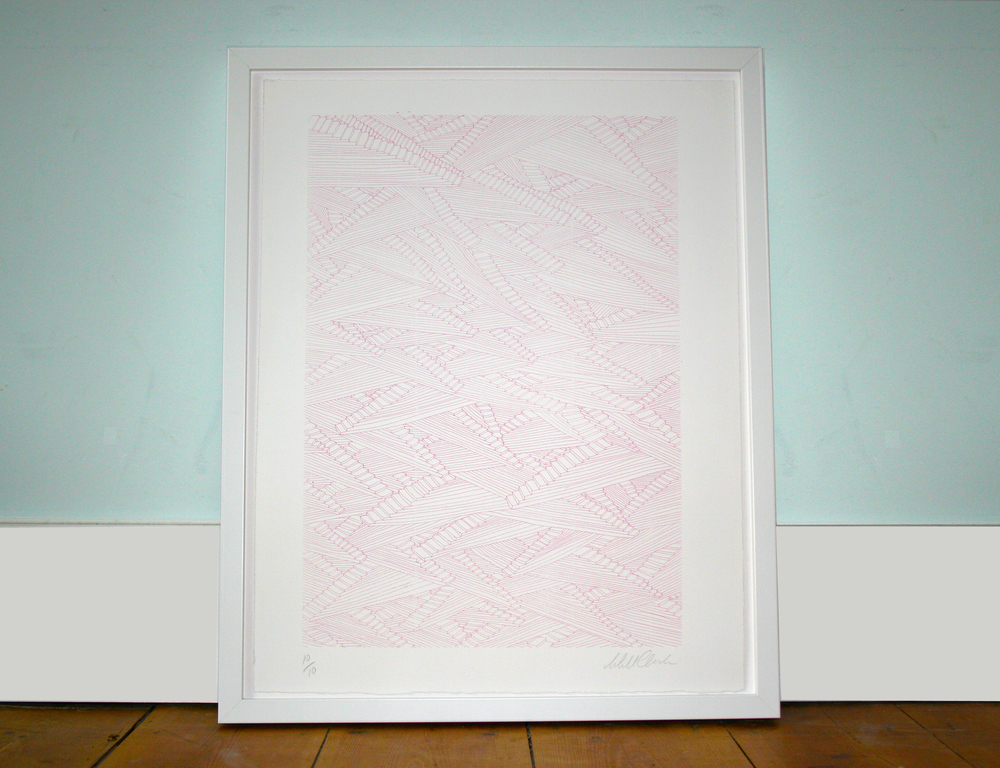 Stairs in pink 40cm x 50cm (also available in blue)