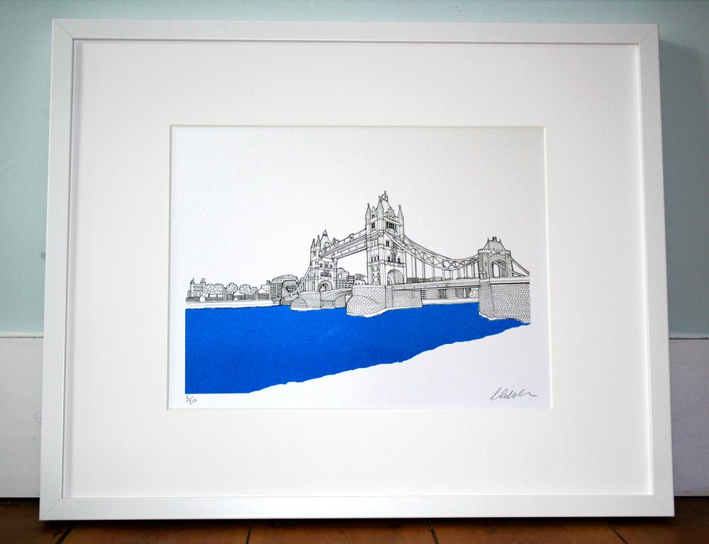 Tower Bridge, London. 40cm x 50cm