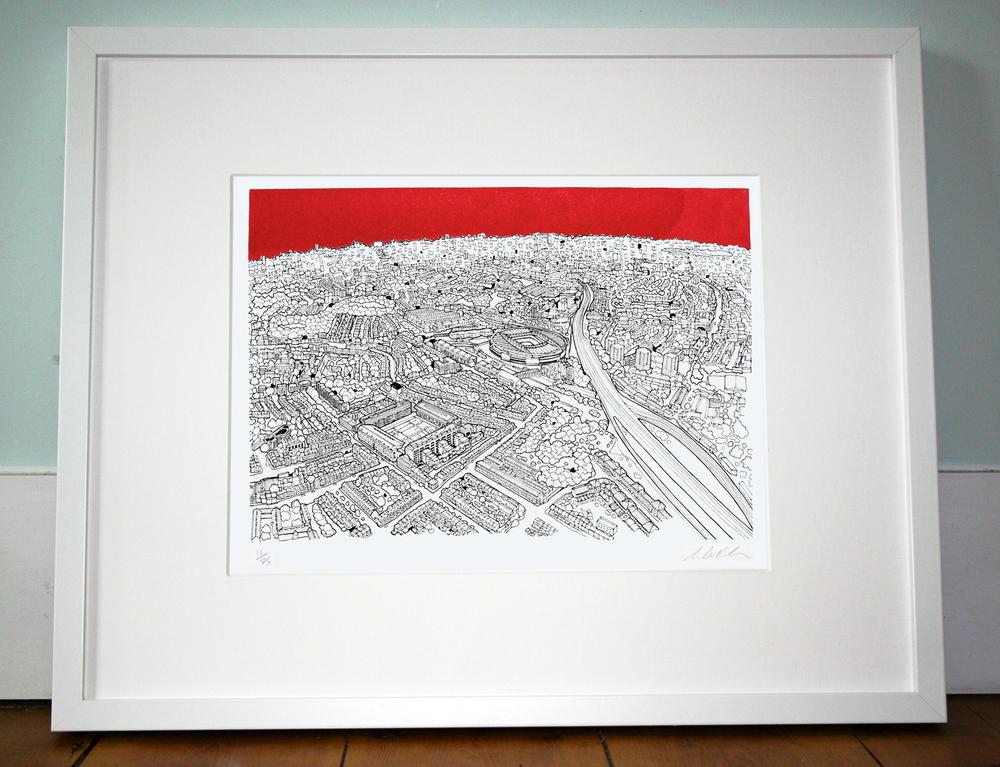 North London. 40cm x 50cm