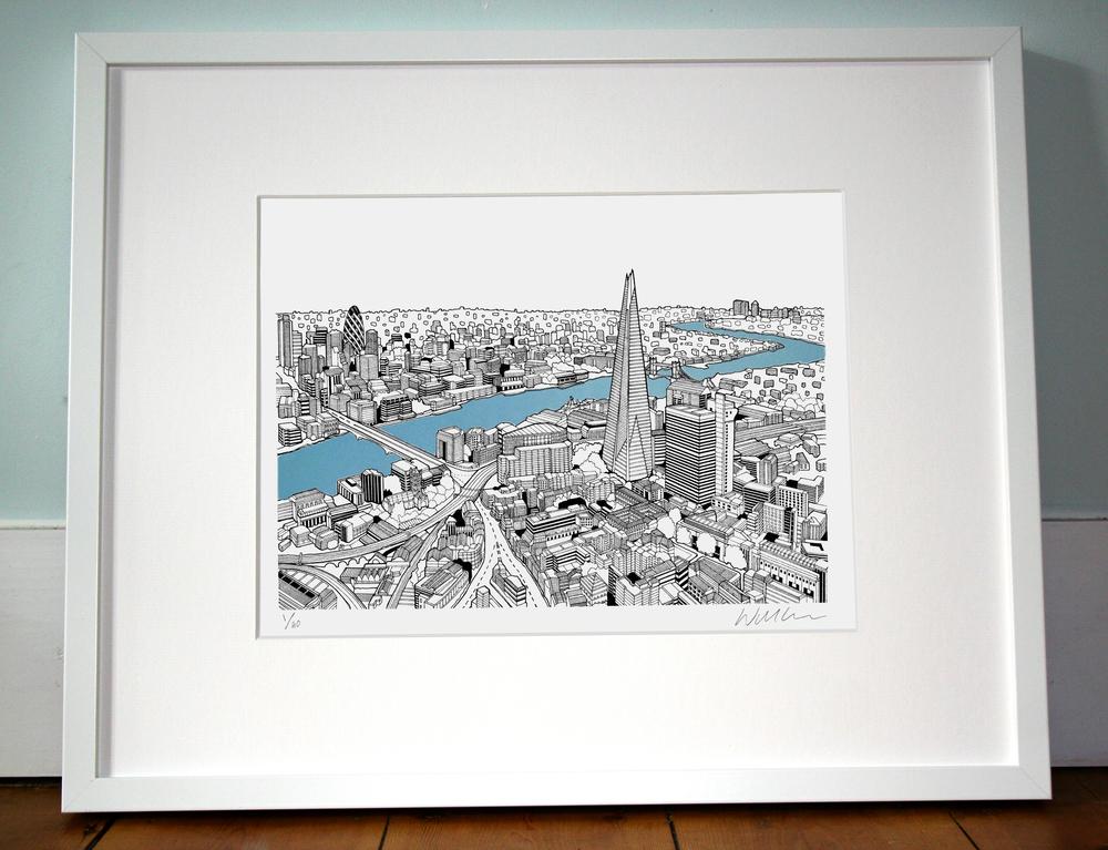 The Shard, London. 40cm x 50cm