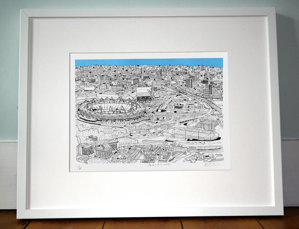 Olympic Park, London 40cm x 50cm