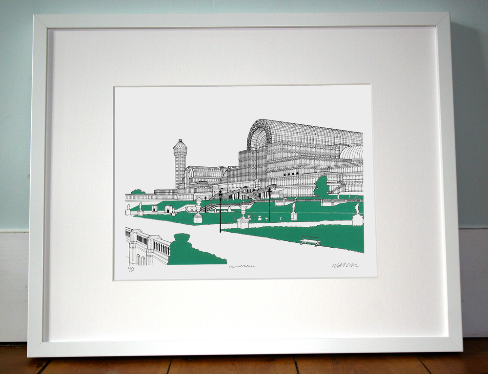 Crystal Palace. 40cm x 50cm