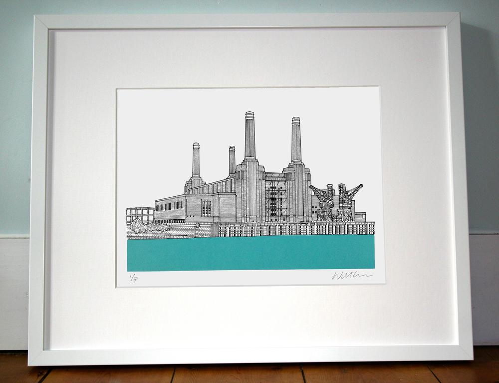 Battersea Power Station. 40cm x 50cm