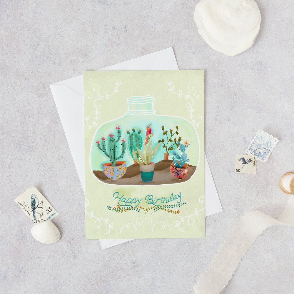Succulent Terrarium by Joy Laforme for Paper Rose