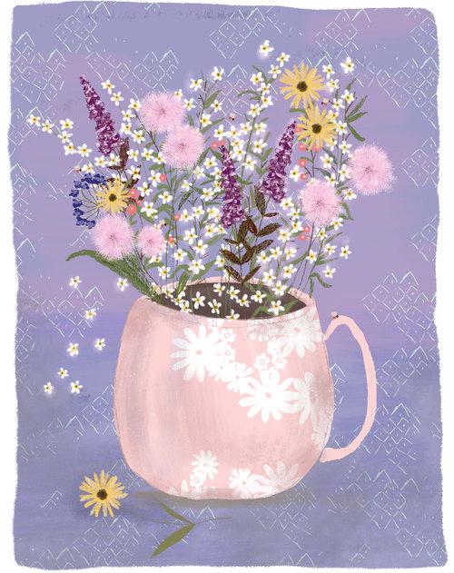 Wildflower Still Life by Joy Laforme