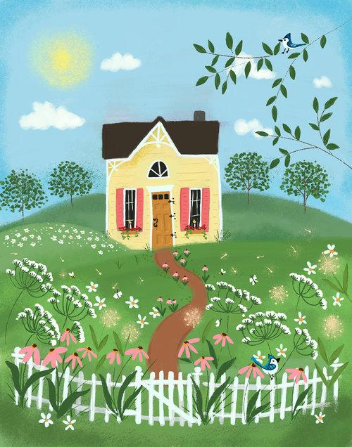 Bluejay Cottage by Joy Laforme