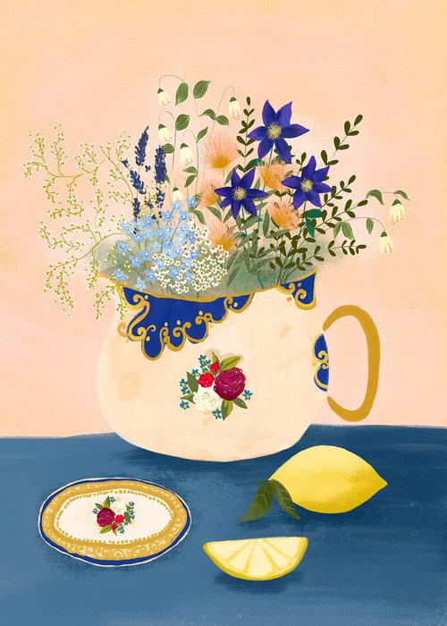 Staffordshire Still Life no. 2 by Joy Laforme
