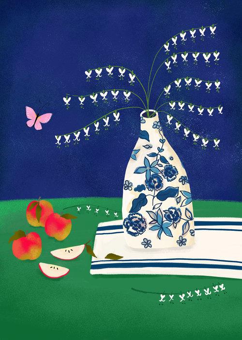 Bleeding Heart Still Life (from Folk Art Fusion: Americana) by Joy Laforme