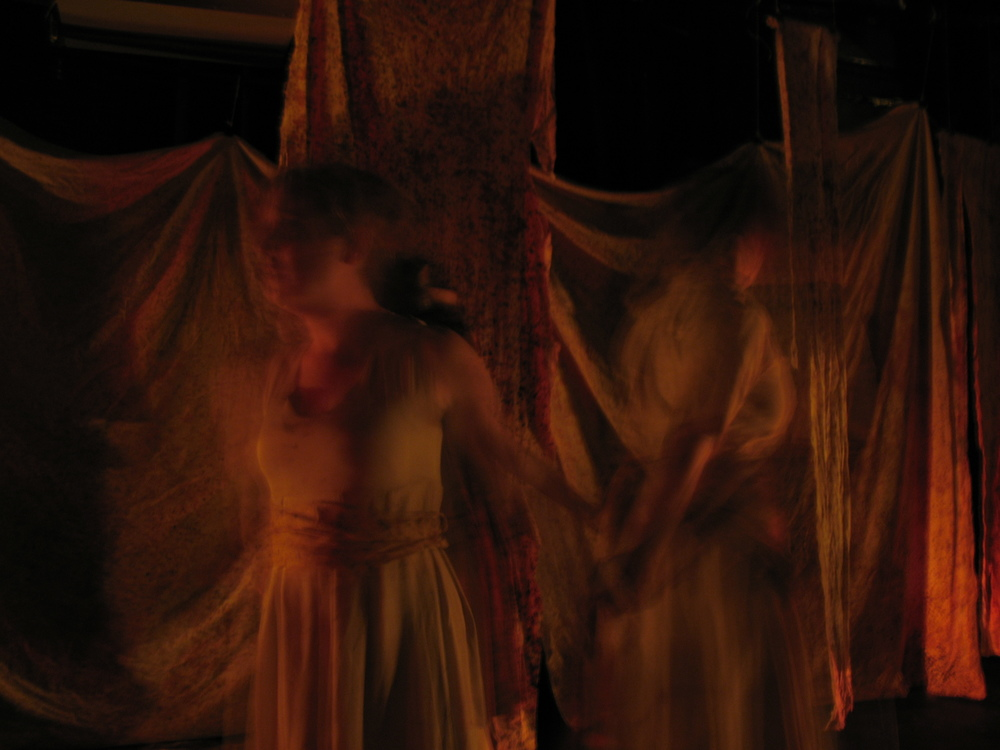 Ghost Women. Lauren Pizzi, Brynne Barnard, and Atra Asdou.  Photo by kClare Kemock.