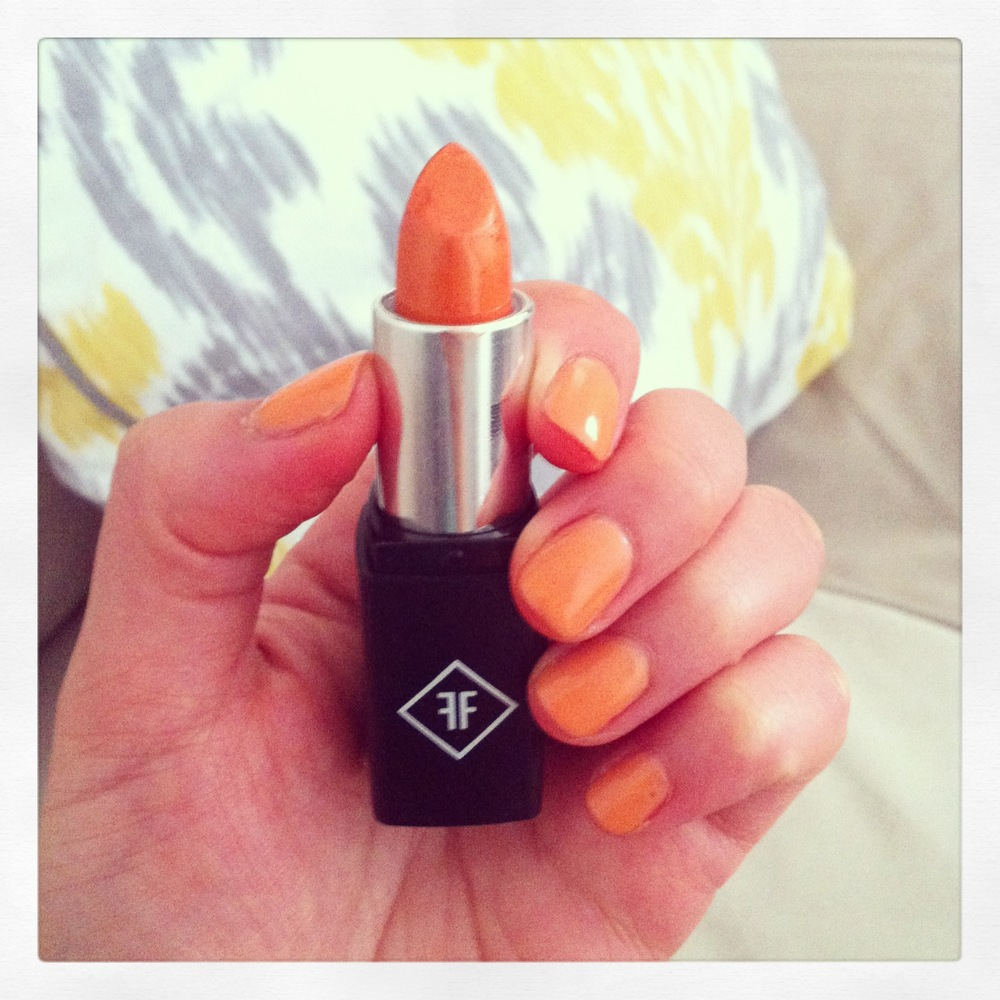 For those that know me, I LOVE oranges, as in the fruit. Now I love orange nail polish and orange lipstick. A new color in the line.