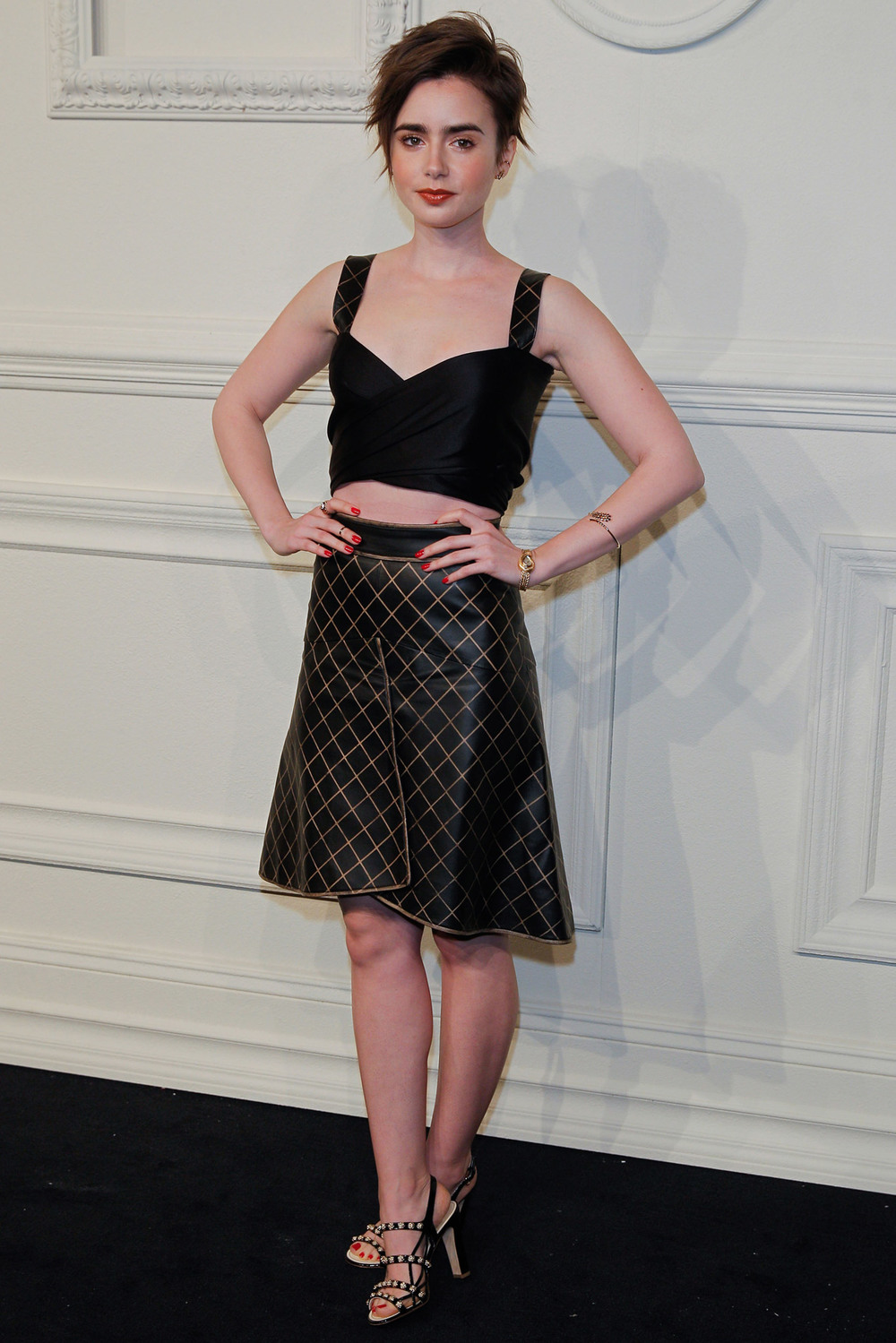 Lily Collins Chanel Fall 2015 Launch style.com.jpg