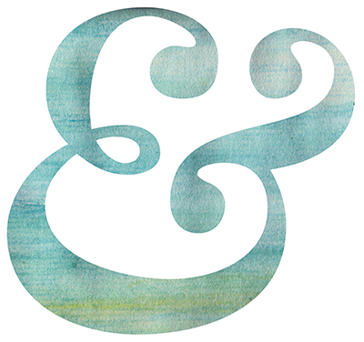 watercolour ampersand