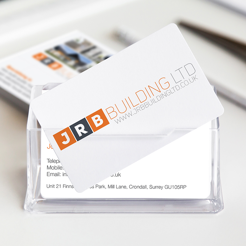 A clean, modern corporate identity for  a residential building company