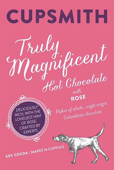 truly magnificent hot chocolate with rose