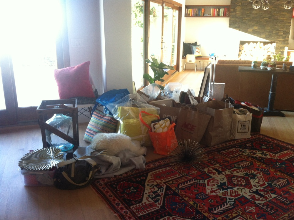 The shopping mess preceding a fabulously styled home.