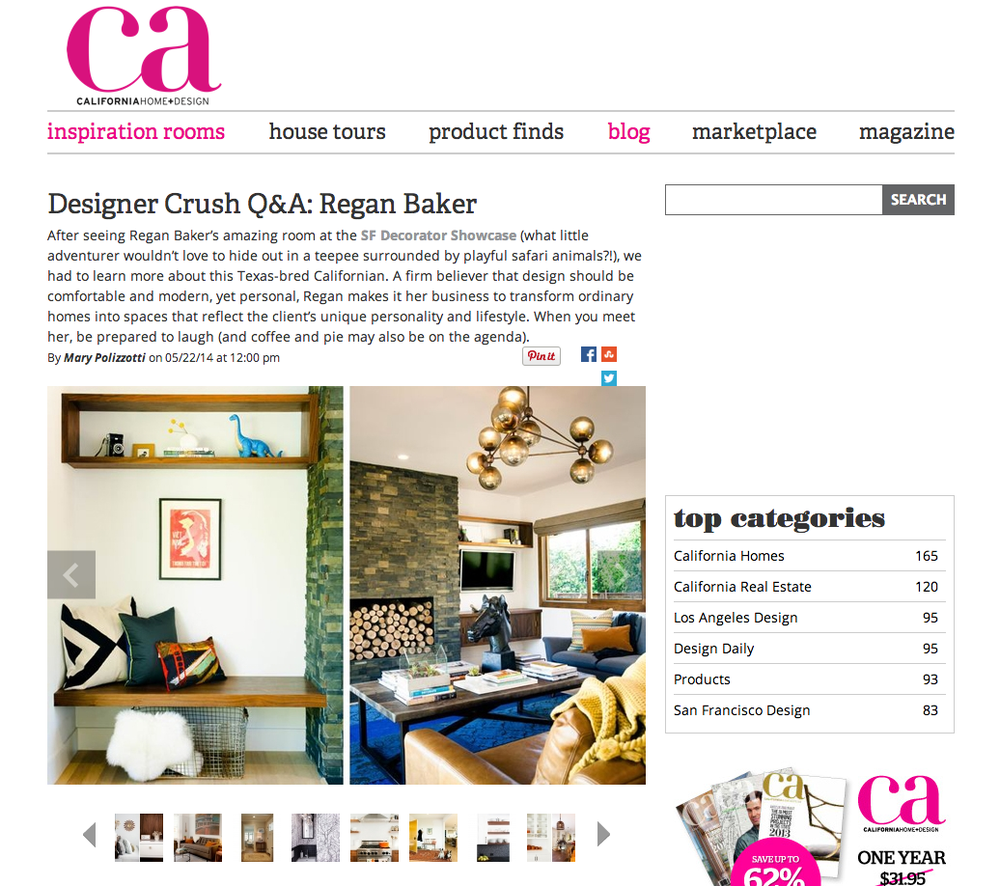 California Home+Design Designer Crush Regan Baker