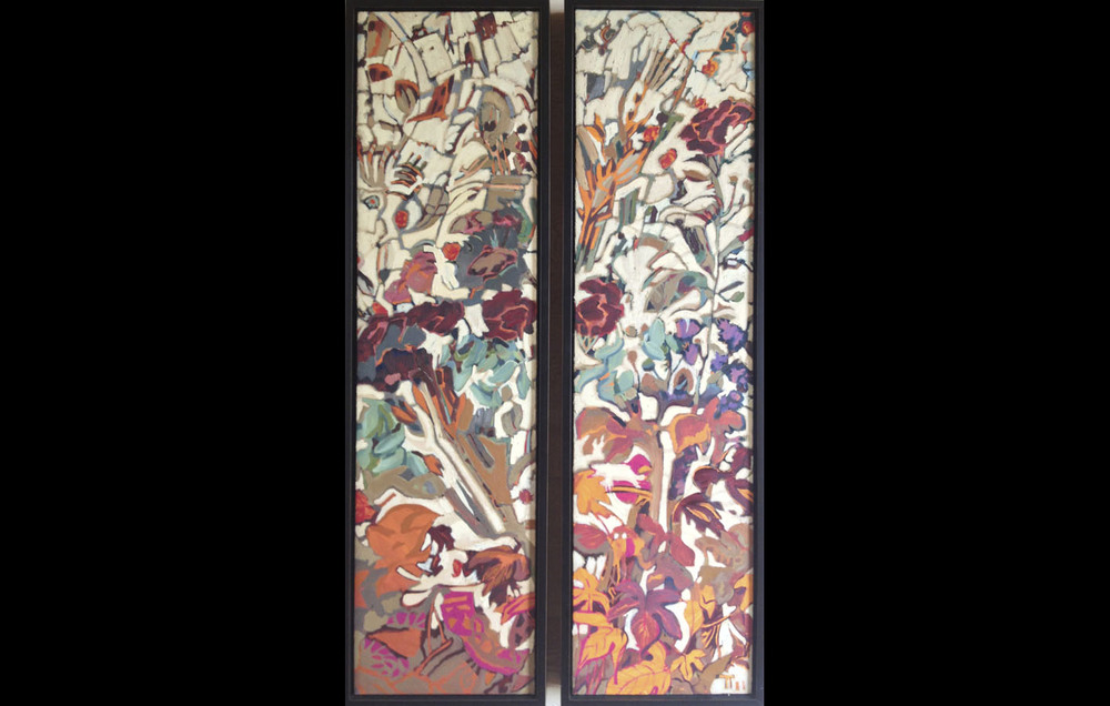 Decorative Floral Panel - Diptych