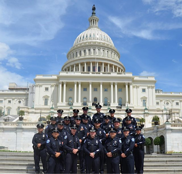 HPD Command Staff in front of the US Capitol, Wash DC, May 2012