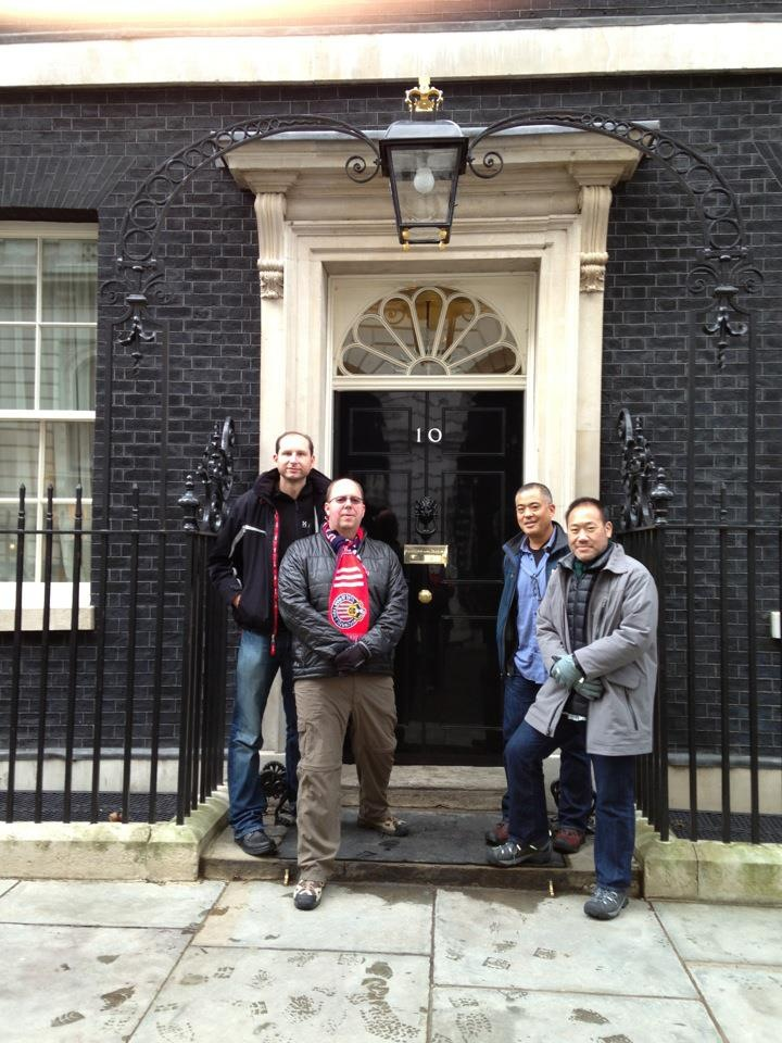 HPD in front of 10 Downing Street, UK