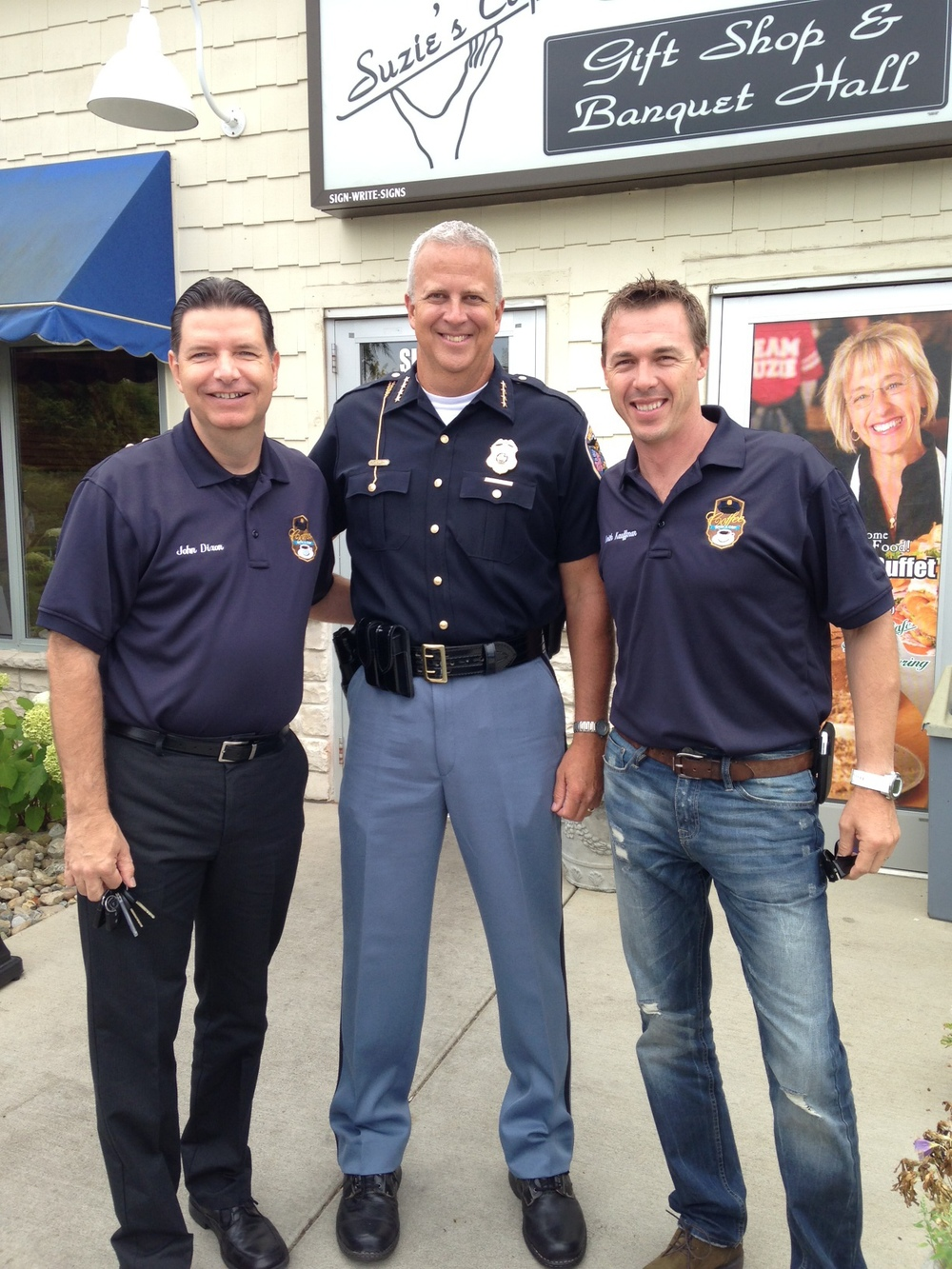 Detective Dixon, Chief  Michael Brickner , Captain Kauffman, Valparaiso, Indiana