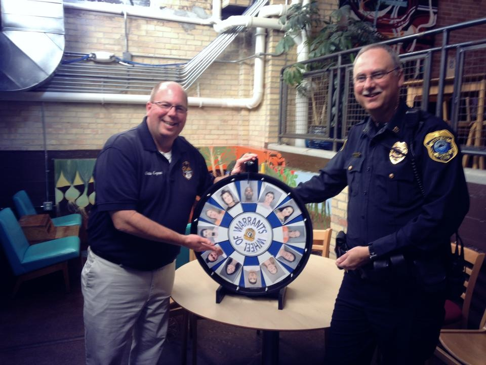 Sergeant Cognac and Captain Bill Bolin at the Green Bay, Wisconsin Coffee with a Cop