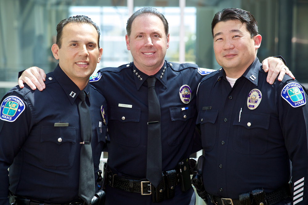 HPD's Command Staff:  Captain Julian Catano, Chief Robert Fager, Captain Michael Ishii