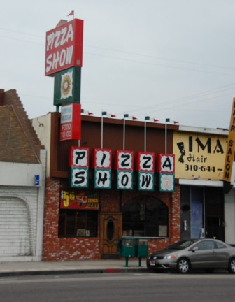 Pizza Show, 13344 Hawthorne Boulevard It is unlikely that Pizza Show has changed a single fixture since opening 55 years ago. With murals of Italian villas, cozy booths and a walk-up window, the restaurant has been one of the few constants in an evolving town. Brian often ate here.