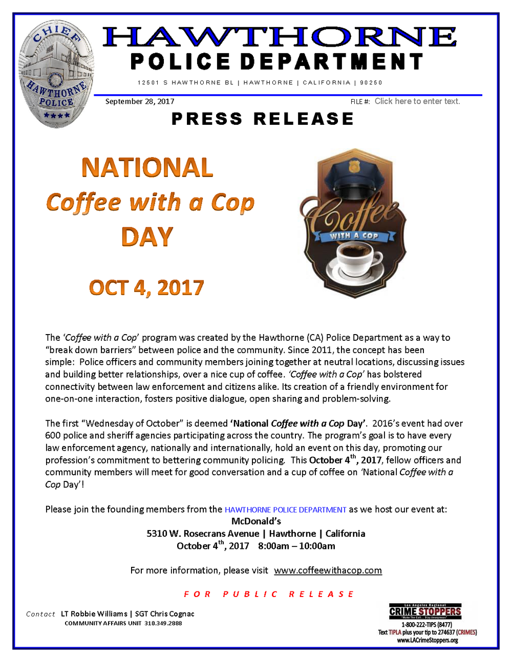 Press Release_Nat'l Coffee with a Cop Day 2017 (1)_Page_1.png