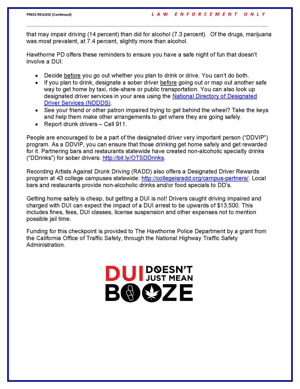 DUI/Drivers License Checkpoint Planned December 20, 2018 - pg2