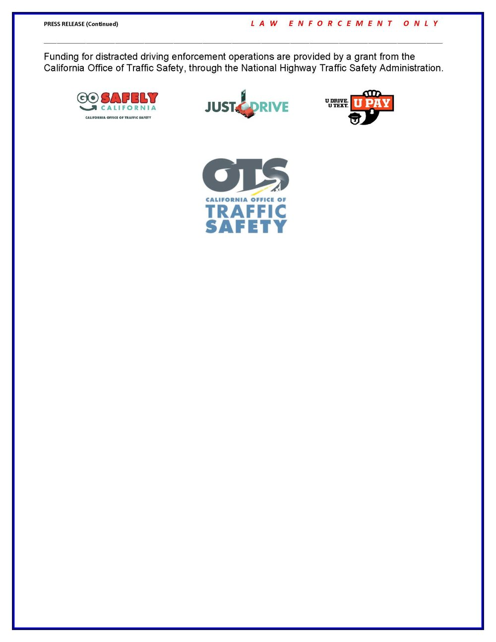 April is Distracted Driving Awareness Month - page2