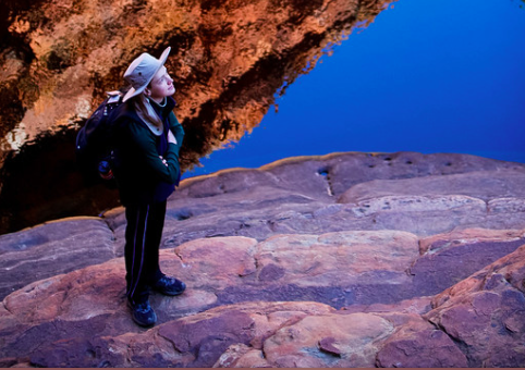 Jordan Smith (class of 2013) hiking in Australia