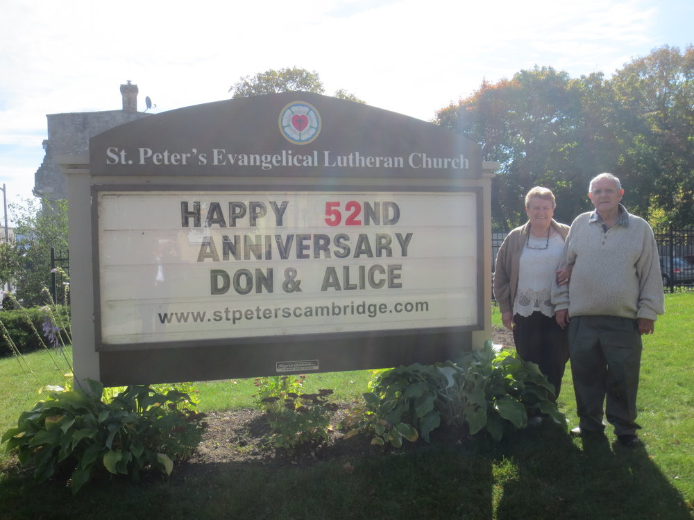 Alice and Don Brill celebrated their 52nd wedding anniversary on Sunday October 22nd, 2017. Happy Anniversary to you both!