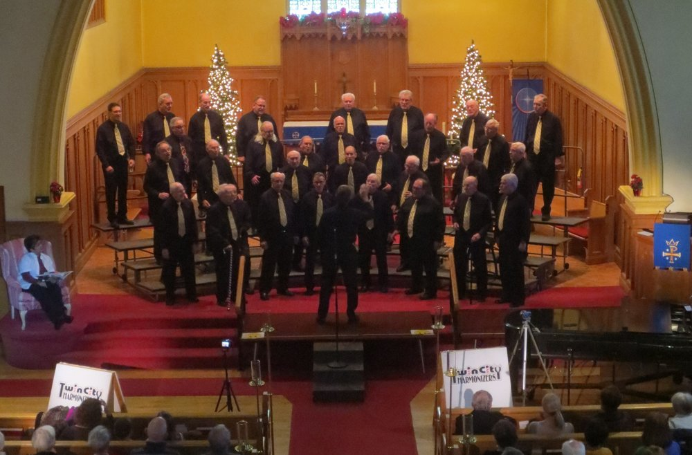 The Twin City Harmonizers presented their annual Christmas Concert at St. Peter's on Sunday, December 2nd, 2018. Master of Ceremonies for the afternoon was our own Pastor Janaki Bandara.