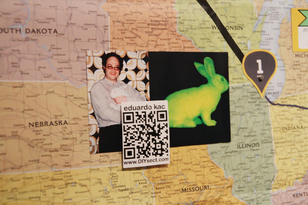 Each image contained a QR code, which linked to a short audio clip describing the subject