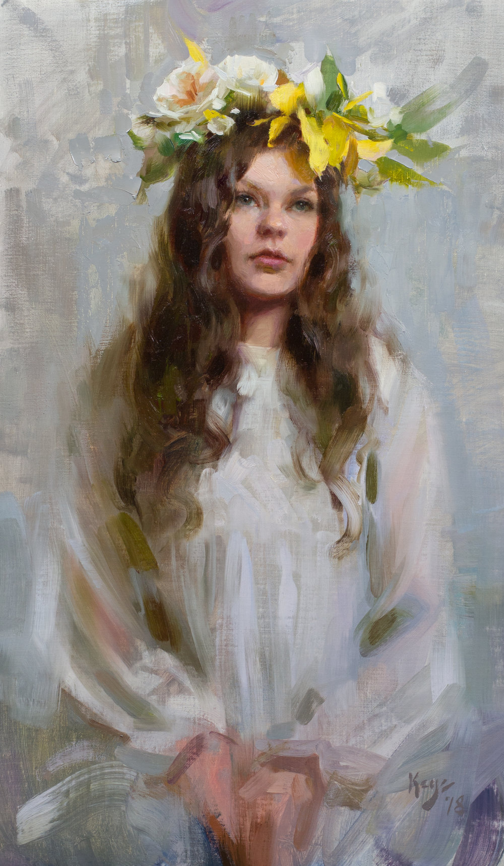 Daydream, 24 x 14 inches, oil on linen