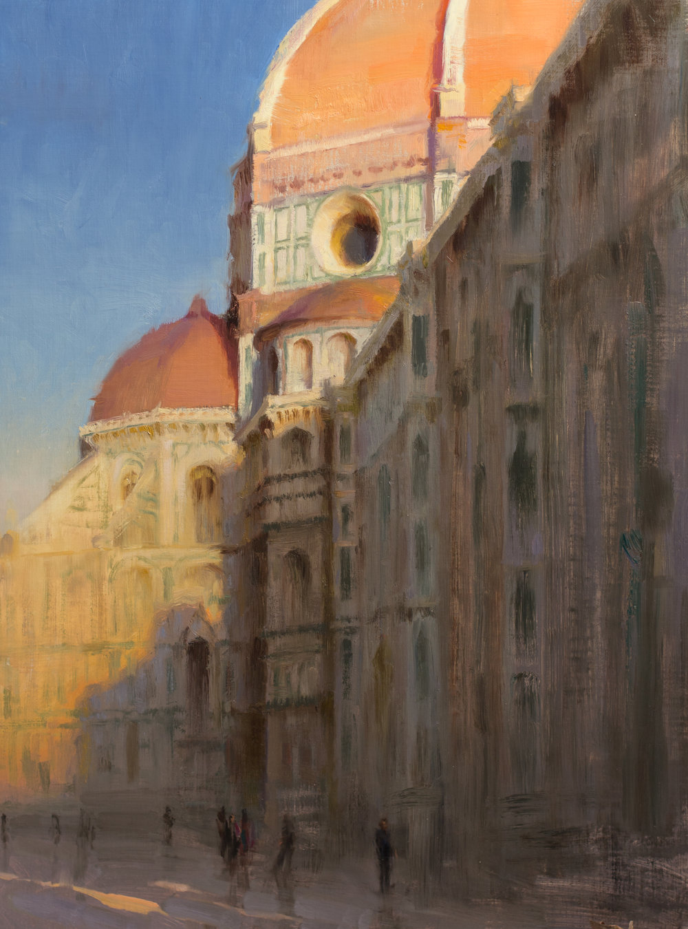 Duomo at Sunset, 24 x 18 inches, oil on linen