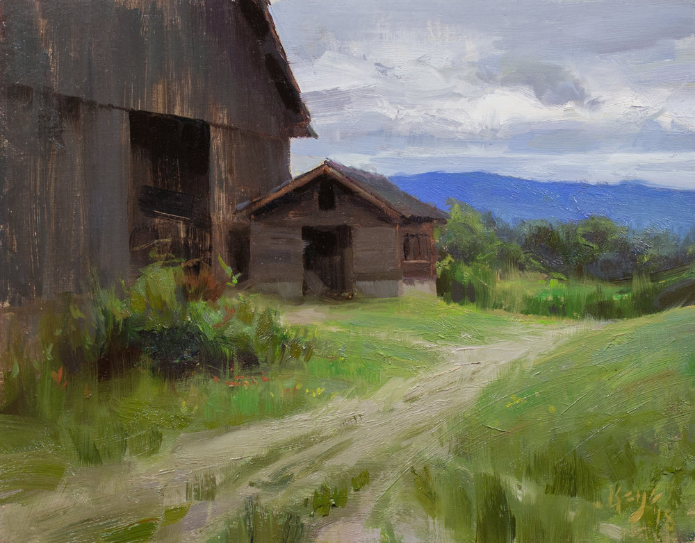 Summer Overcast, 12 x 16 inches, oil on linen