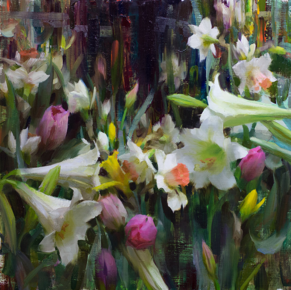 Spring Opus, 20 x 20 inches, oil on linen