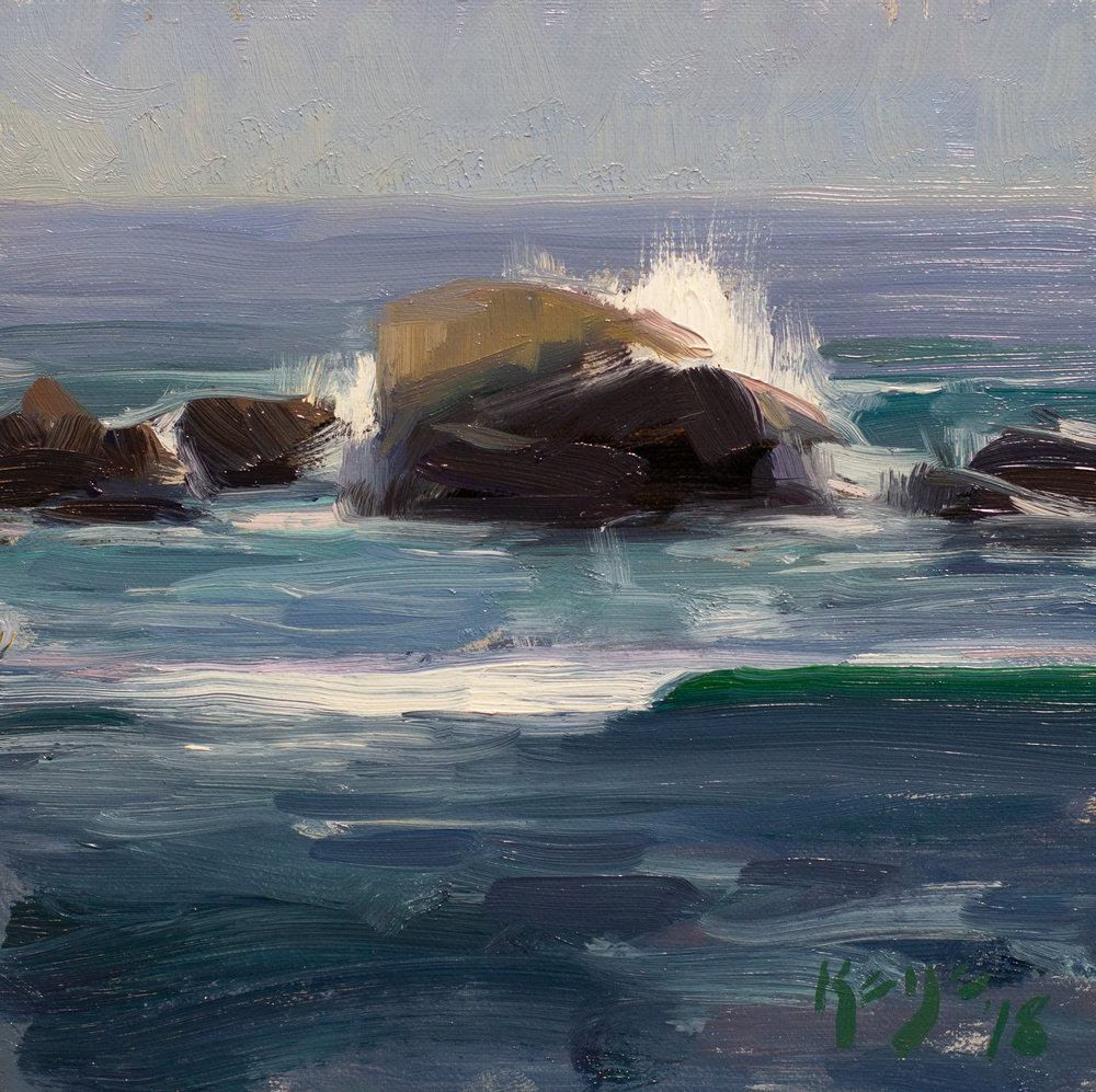 Pacific Waves, Daniel Keys, 6 x 6 inches oil on linen.jpg