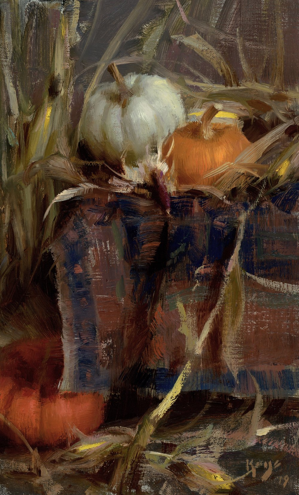 Autumn Inside, Daniel Keys, 2019, 12 x 7.5 inches oil on linen.jpg