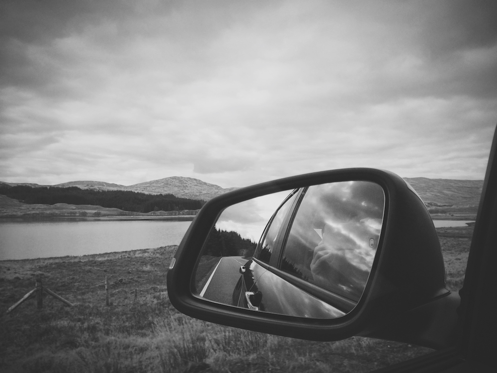 Cruising along the truly scenic road that is the A82, back in May