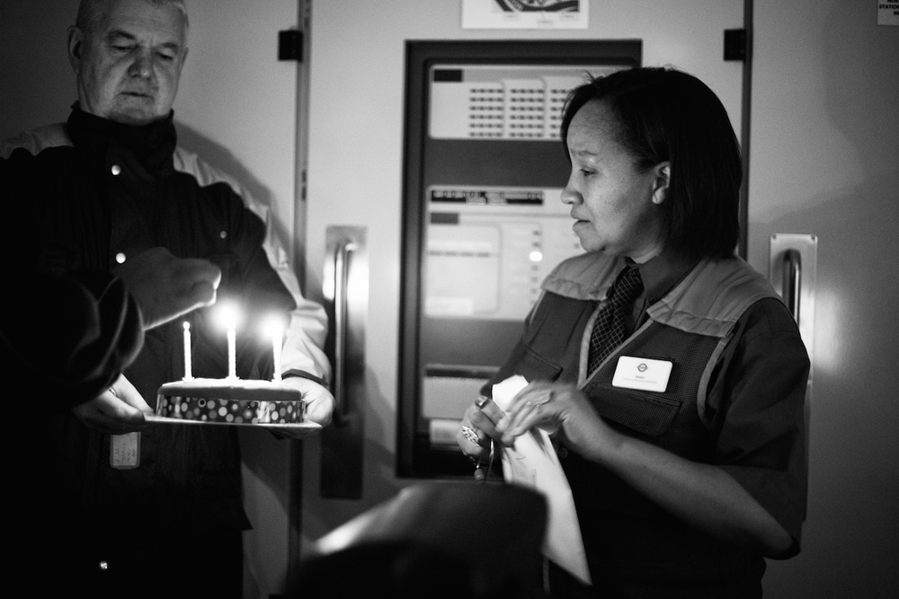 From the days I used to be on the stations: Surprising a colleague with a birthday cake at the end of her shift