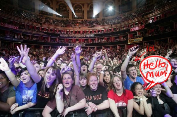 Royal Albert Hall, 2008. My ribs were bruised for about a week...