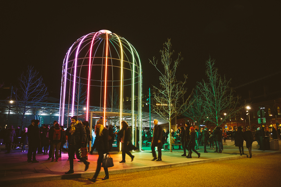 'IFO' (Identified Flying Object) at King's Cross - Lumiere London 2016
