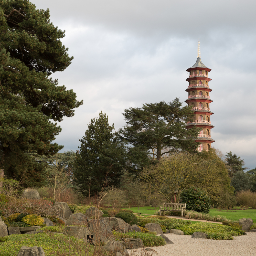The Pagoda and the Japanese Garden at Kew