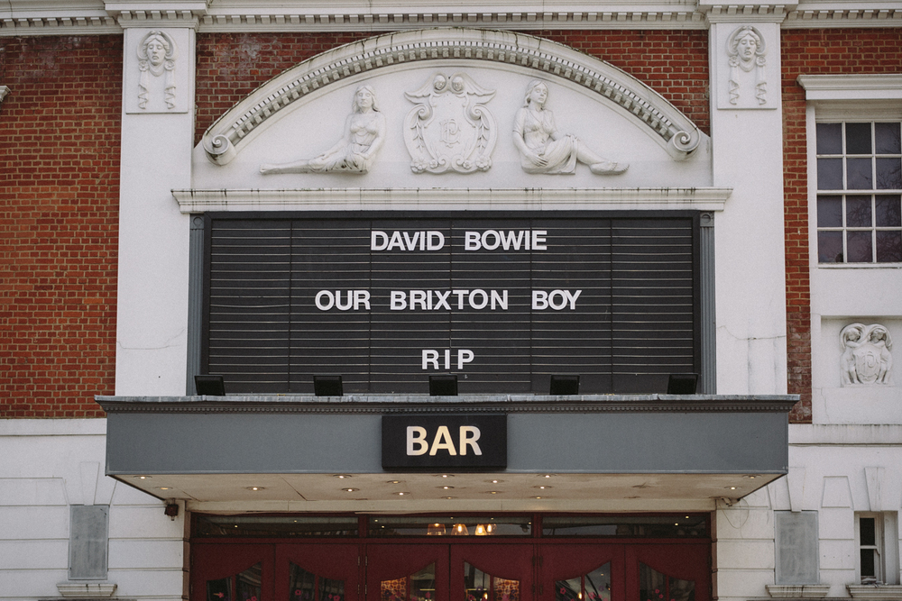 Ritzy Cinema tribute to Bowie